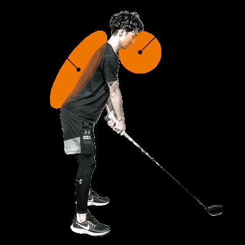 ゴルフの呼吸と姿勢